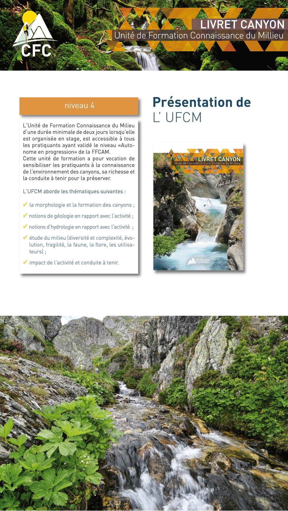 présentation de l'unité de formation connaissance du milieu en canyon