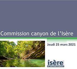 Commission canyon de l'Isère réunion du 25 mars 2021