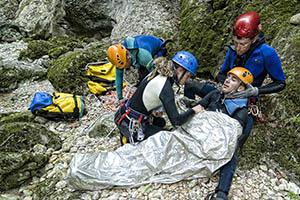 secours médical prévention en canyon